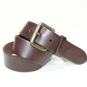 Express Brown Leather Belt